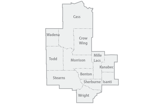 East Central region map