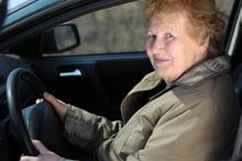 Older woman driver